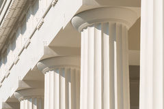 Doric Columns Of Ancient Temple Royalty Free Stock Photography