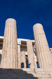 Doric Columns. Athens, Greece Royalty Free Stock Image