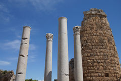Doric  columns and the Hellenistic Gate Stock Images