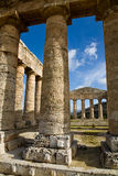 Doric columns, Segesta, Sicily Royalty Free Stock Photos