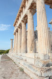 Doric columns at Temple of Aphaia Stock Image