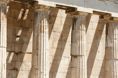 Doric columns in the Temple of Ephesto in Athens. Greece Stock Photo