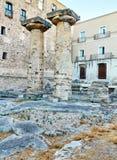 Doric columns of the Temple of Poseidon at Taranto. Apulia, Italy Royalty Free Stock Photo