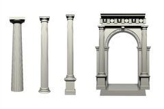 Doric Greek style column Stock Photography