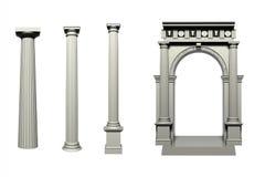 Doric Greek style column Stock Photography