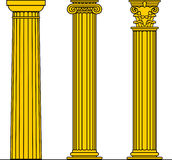 Doric, Ionic & Corinthian Royalty Free Stock Photos