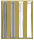 doric kolonn royaltyfri illustrationer