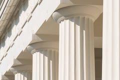 Doric kolumny Antyczna świątynia Fotografia Royalty Free