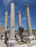 Doric marble columns of the agora Royalty Free Stock Photo