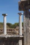 Doric marmurowe kolumny agora Zdjęcia Royalty Free