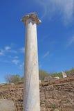Doric marmurowe kolumny agora w starożytnego grka mieście Obraz Royalty Free