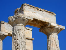 Doric Order Column. Two greek doric order columns Royalty Free Stock Photo