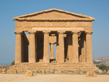 Doric temple in Agrigento Royalty Free Stock Photos
