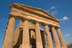 Doric temple in Agrigento Stock Image