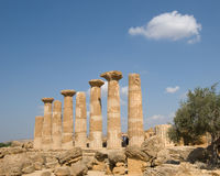 Doric Temple In Agrigento Stock Photography