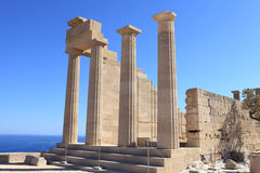 Doric Temple of Athena Lindia Stock Images