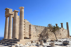 Doric Temple of Athena Lindia view Stock Photography