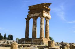 Doric temple of Castor and Pollux in Agrigento Stock Photo