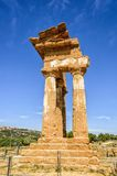 Doric temple of Castor and Pollux in Agrigento, Italy Stock Photos