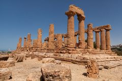 Sicily Agrigento Temple valley Stock Image