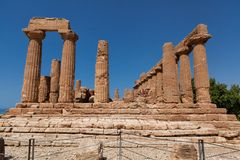 Sicily Agrigento Temple valley Royalty Free Stock Image