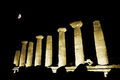 Doric temple of Heracles in Agrigento Royalty Free Stock Images