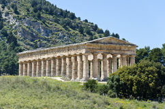 The Doric temple of Segesta Stock Photos