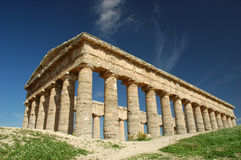 The Doric temple of Segesta. Segesta (Sicilian: Seggesta) was the political center of the Elymian people, located in the northwestern part of Sicily, in what are royalty free stock photos