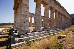 The Doric temple of Segesta Stock Photography