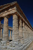 The Doric Temple at Segesta, Sicily Royalty Free Stock Images
