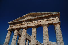 The Doric Temple at Segesta, Sicily Royalty Free Stock Photos