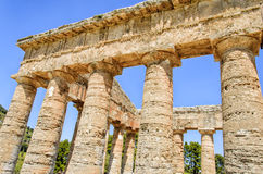 Doric Temple in Segesta, Sicily Royalty Free Stock Photos