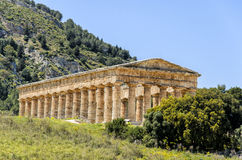Doric Temple in Segesta, Sicily, Italy Stock Photos