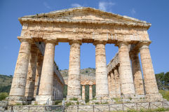 Doric Temple in Segesta Stock Photos