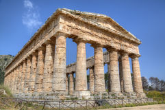 Doric Temple in Segesta Royalty Free Stock Photo