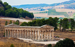 Doric temple of Segesta Stock Photos