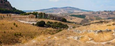 Doric temple of Segesta Stock Photo