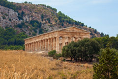 Doric temple of Segesta Stock Photography