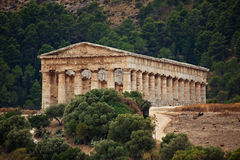Doric temple of Segesta Royalty Free Stock Photo