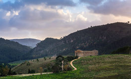 Doric temple in Segesta, Sicily Stock Images