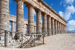 Doric temple of Segesta, Sicily Royalty Free Stock Photo