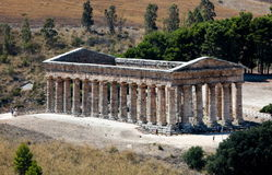 The Doric temple of Segesta Royalty Free Stock Images
