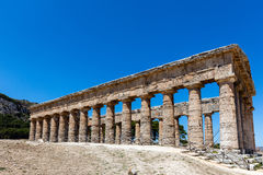 The Doric temple of Segesta Royalty Free Stock Photo