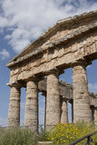 The Doric temple of Segesta. A view of the beautiful ancient temple of Segesta Stock Photo