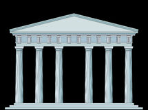 Dorictemple. Vector detailed drawing of the antique temple Royalty Free Stock Image