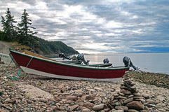 Dories on the beach Stock Images