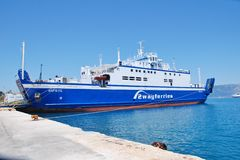 Dorieus ferry, Corfu Royalty Free Stock Image