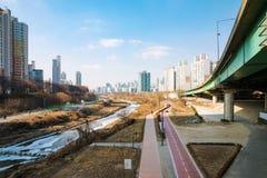 Dorimcheon rzeka na słonecznym dniu zdjęcie stock