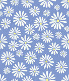 Doris Day Flowers on Lavender Seamless Tile Royalty Free Stock Images