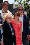 Doris Roberts, Brad Garrett, Patricia Heaton, Ray Romano at the Patricia Heaton Star On The Hollywood Walk Of Fame, Hollywood, CA royalty free stock photography